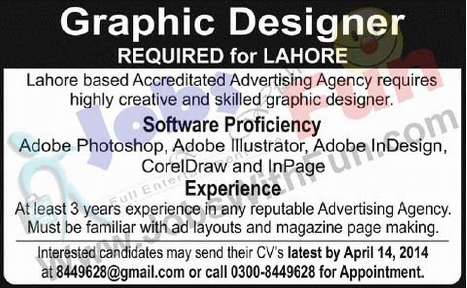 Graphics Designer Jobs In Accreditated Advertising Agency
