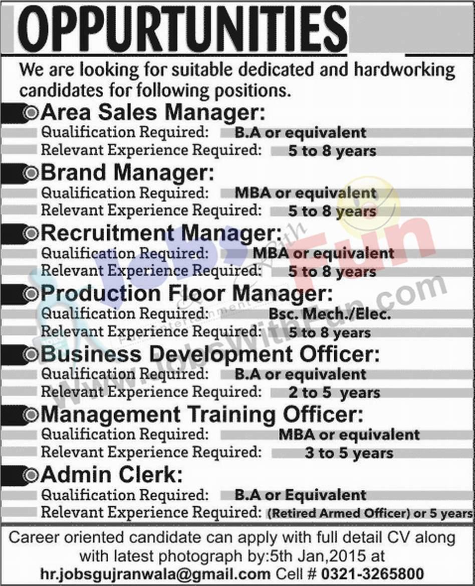 job opportunities in pvt company gujranwala jobs jobs fun com